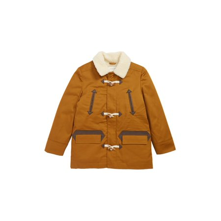 1920s Fashion Men (Boys Faux-Shearling Toggle-Button Jacket)