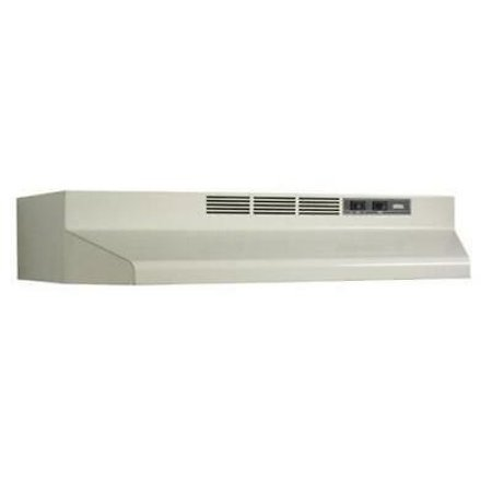 - BROAN-NUTONE 413002 30 in. Non-Ducted Under Cabinet Range Hood, Bisque