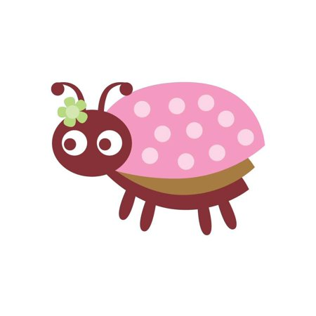 Wallmonkeys Cute Little Ladybug - 4 Peel and Stick Wall Decals WM90128 (36 in W x 26 in -