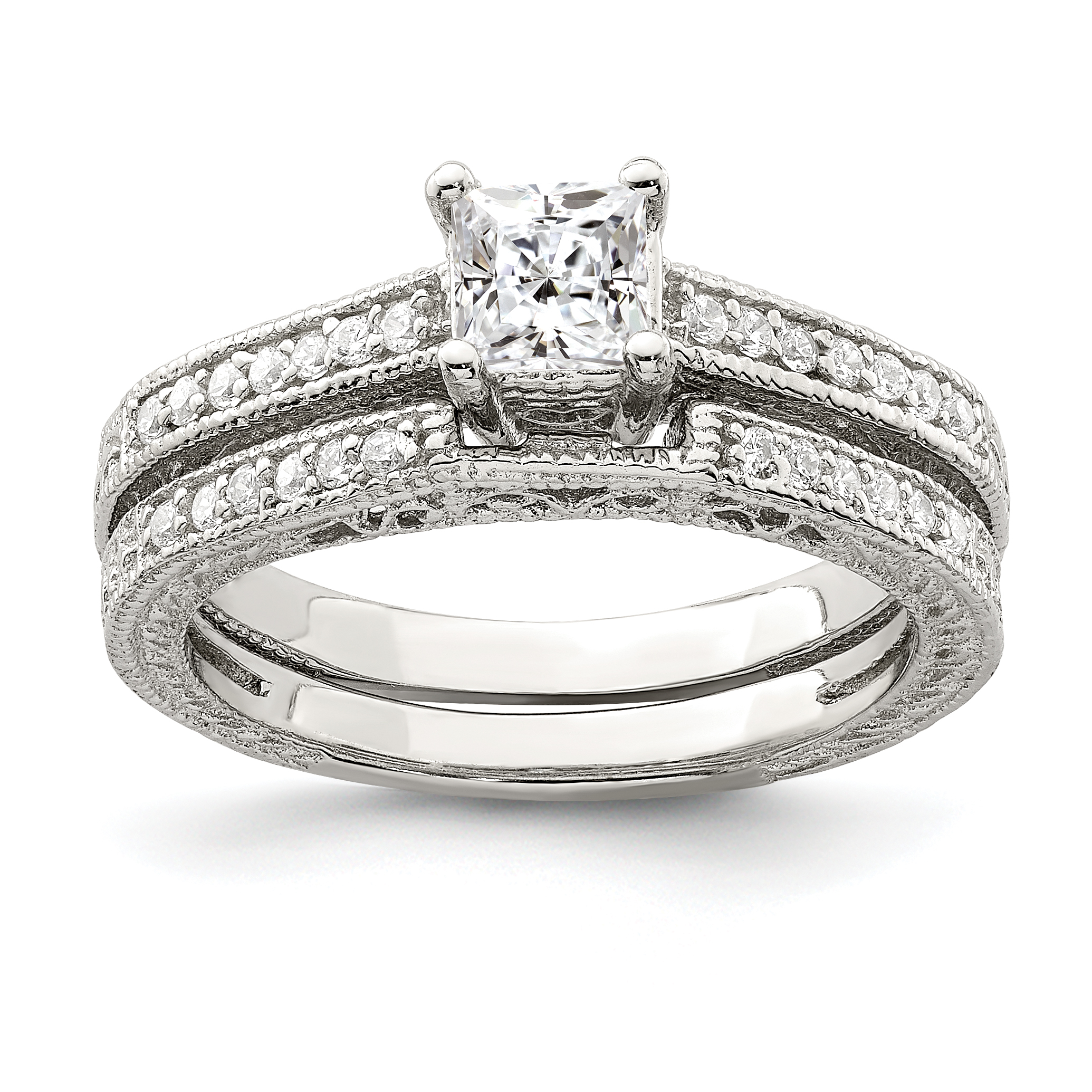 Wedding Gifts At Walmart: ICE CARATS 925 Sterling Silver 2 Piece Cubic Zirconia Cz