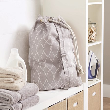 Laundry Bags At Walmart Magnificent Better Homes And Gardens Drawstring Laundry Bag Walmart