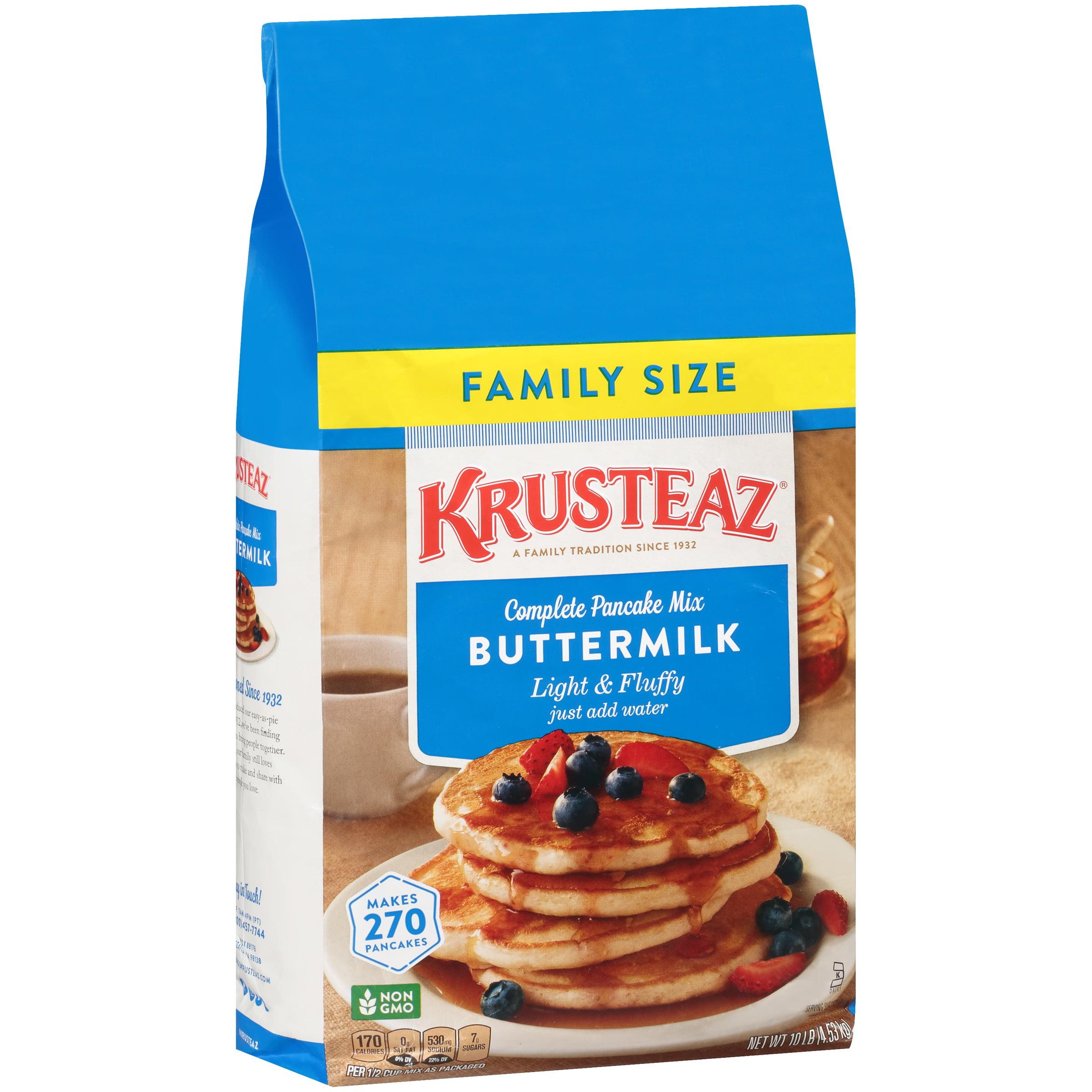 Krusteaz Complete Buttermilk Pancake Mix, 10 lbs Family Size Bag