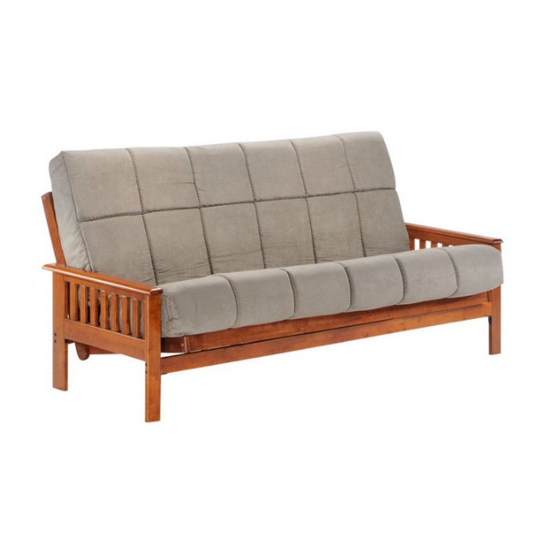 Night and Day Trinity Full Wood Futon Frame in Hickory by Night & Day