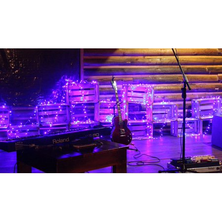 LAMINATED POSTER Lights Guitar Piano Effects Poster Print 24 x