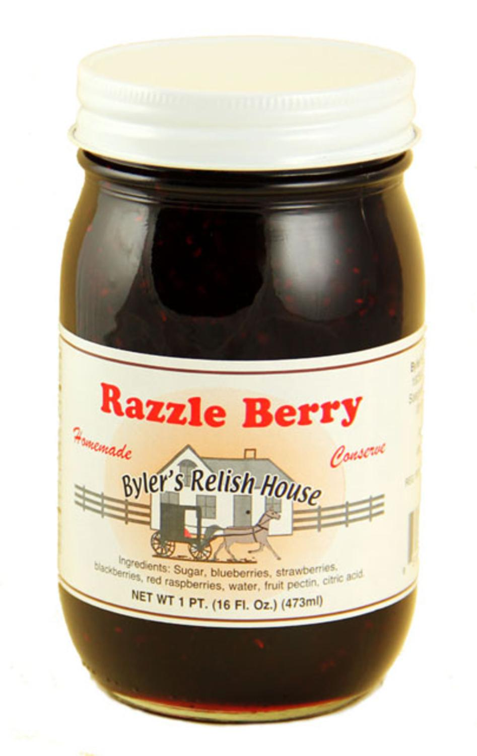 Byler's Relish House Homemade Amish Country Razzle Berry Jam Fruit Spread 16 oz. by Byler's Relish House