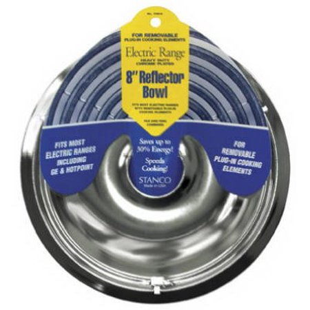 Stanco Metal Prod 700-8 Electric Range Reflector Bowl, Removable Element, Chrome, 8-In. (Stanco Metal)