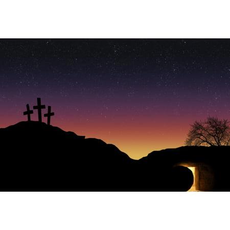 3 Crosses (Empty Tomb And Three Crosses)