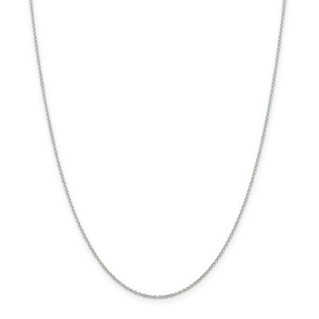 Link Cable Sterling Silver Chain (925 Sterling Silver 1.25mm Link Cable Chain Necklace 16 Inch Pendant Charm Round Fine Jewelry Ideal Gifts For Women Gift Set From Heart)
