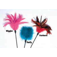 Cats Claw Teaser Small Fluffy Feathers Approx 24 In. (Pack of 1)