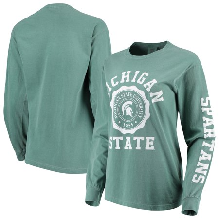 Michigan State Spartans Women's Oversized Comfort Colors University Seal Long Sleeve T-Shirt - Green