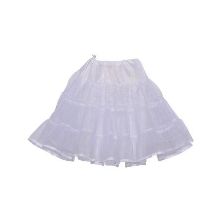 Angels Garment Little Girls White Ruffle Elastic Waist Vintage Petticoat 36-48M - Girls In Petticoat