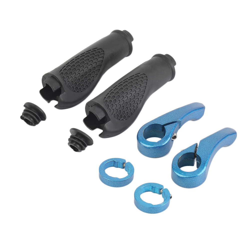 1 Pair Rubber Mountain MTB BMX Bike Bicycle Comfortable Handlebar Rubber Grips Lock for MTB BMX Bike Bicycle