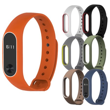 Hight Quality New Silicon Wrist Strap WristBand Bracelet Replacement For XIAOMI MI Band 2
