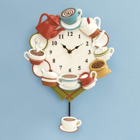 Coffee Cup Pendulum Wall Clock (Winding Pendulum Wall Clock)