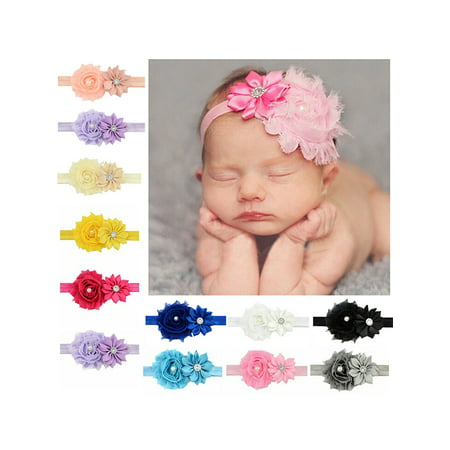 Baby Hair Clip Set (Headband for Baby Girl, Coxeer Cute 12 Pieces Hair Bows Clips Flower Ribbon Hair Accessories For Kids )