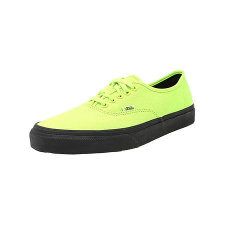 211650b5d196 Vans - Vans Men s Authentic Black Outsole Neon Green   Ankle-High Canvas Skateboarding  Shoe - 10M - Walmart.com