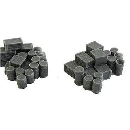 Bar Mills 1001 N Assorted Crates & Barrels Unpainted - 2 Large Groups ()