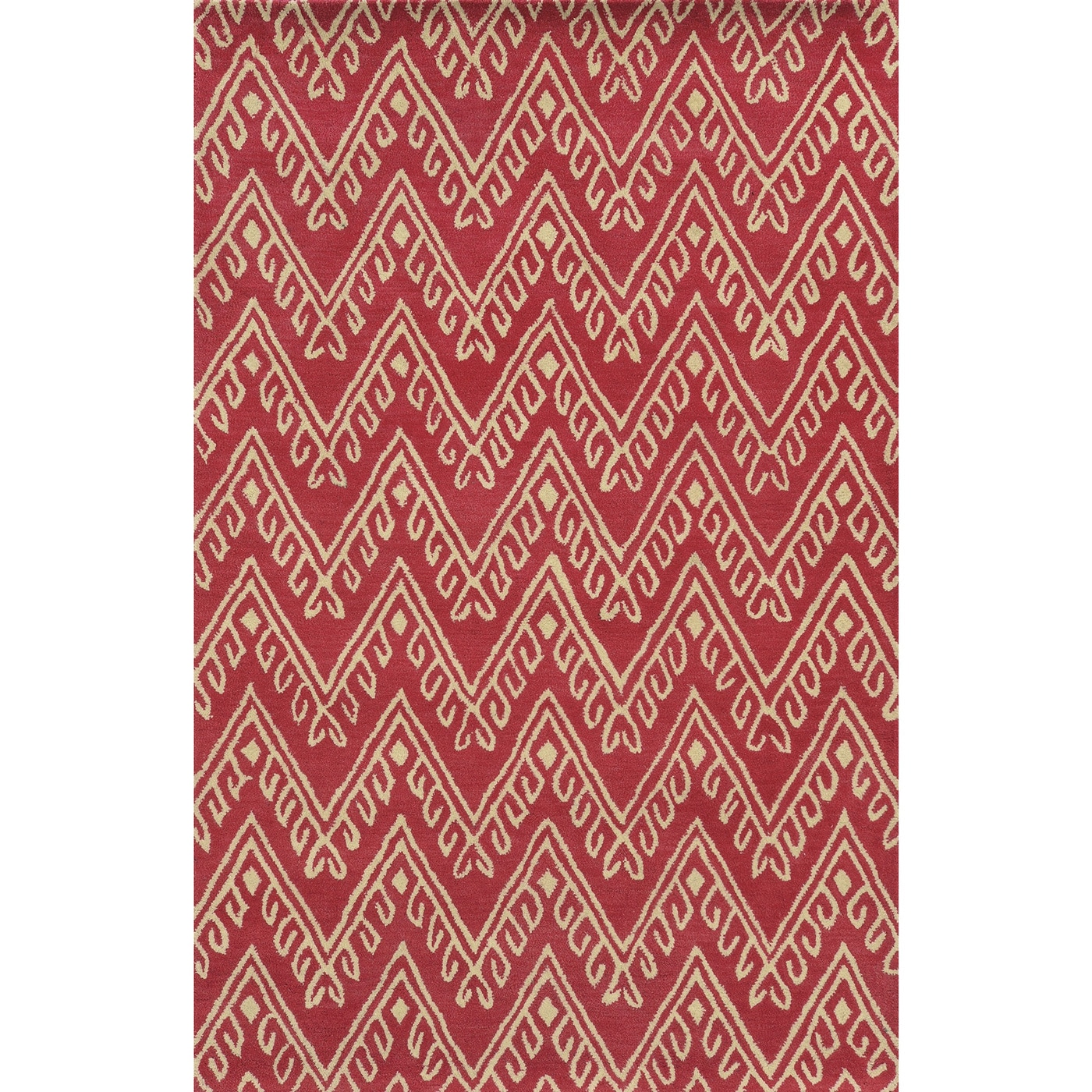 Rizzy Home Bradberry Downs Pink/ White Wool Accent Rug - 9' x 12'