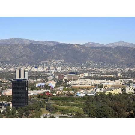 Universal Studios, San Fernando Valley, San Gabriel Mountains, Los Angeles, California, USA Print Wall Art By Wendy