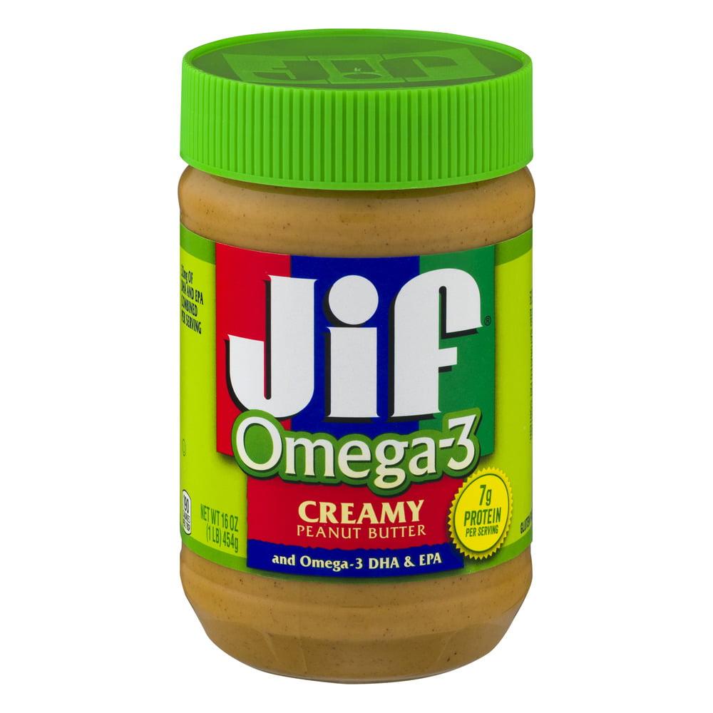 Jif Omega-3 Creamy Peanut Butter, 16.0 OZ