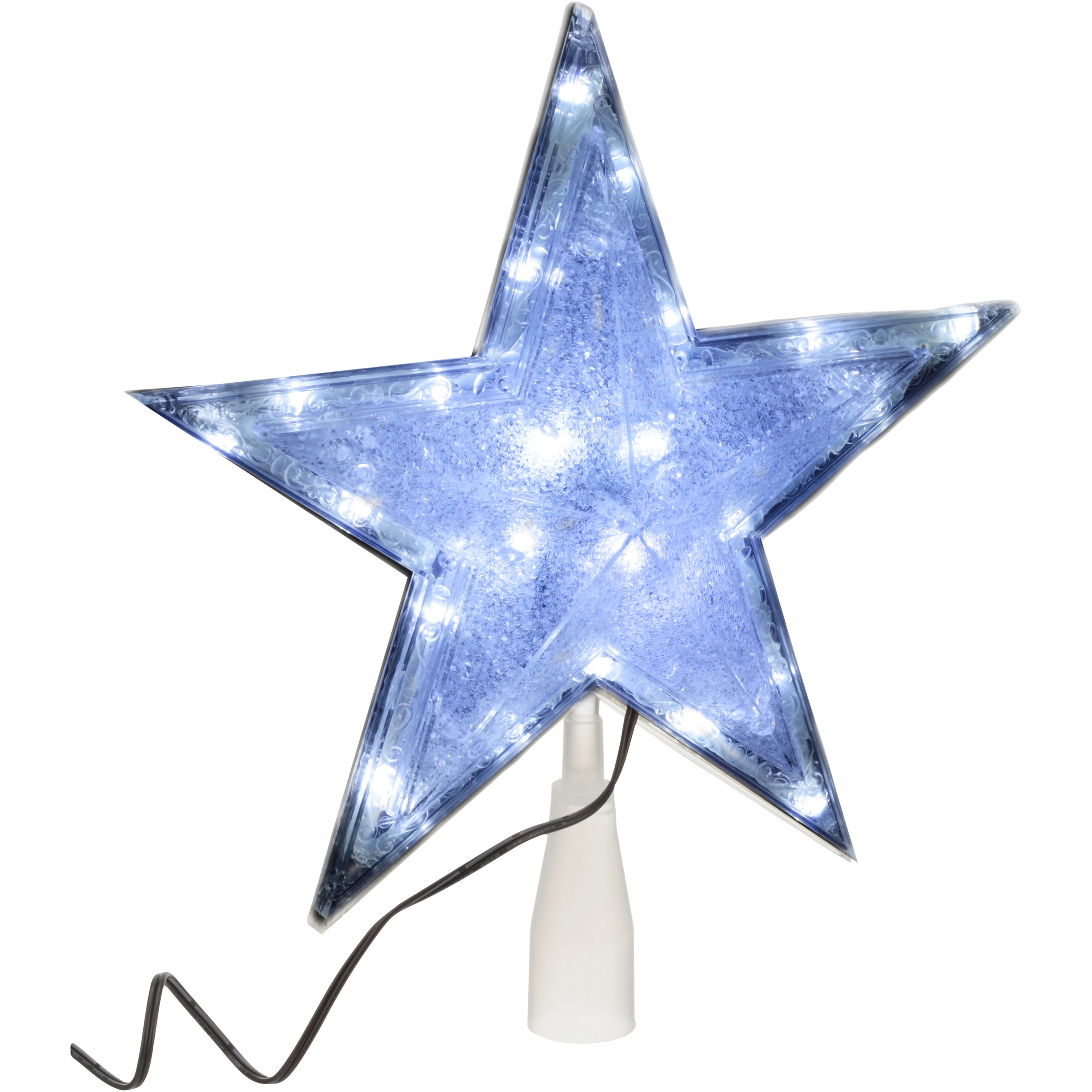 Holiday Time Cool White Lights 10.75 Inch LED Tree Topper