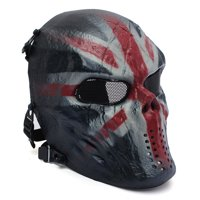 Tactical Gear Airsoft Mask Overhead Skull Skeleton Safety Guard Face Protection Outdoor Paintball Hunting Cs War Game Combat Protect for Party Movie Props Sports Activity
