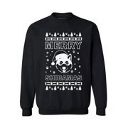 Awkward Styles Merry Shibamas Sweatshirt Shiba Dog Santa Sweater Funny Ugly Christmas Sweater Christmas Gifts for Men and Women Santa Shiba Christmas Sweater Holiday Gift Shiba Lovers Sweater