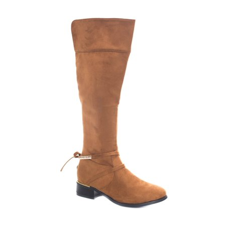 Soho Shoes Women's Tall Suede Knee High Chunky Heel Comfort Boot