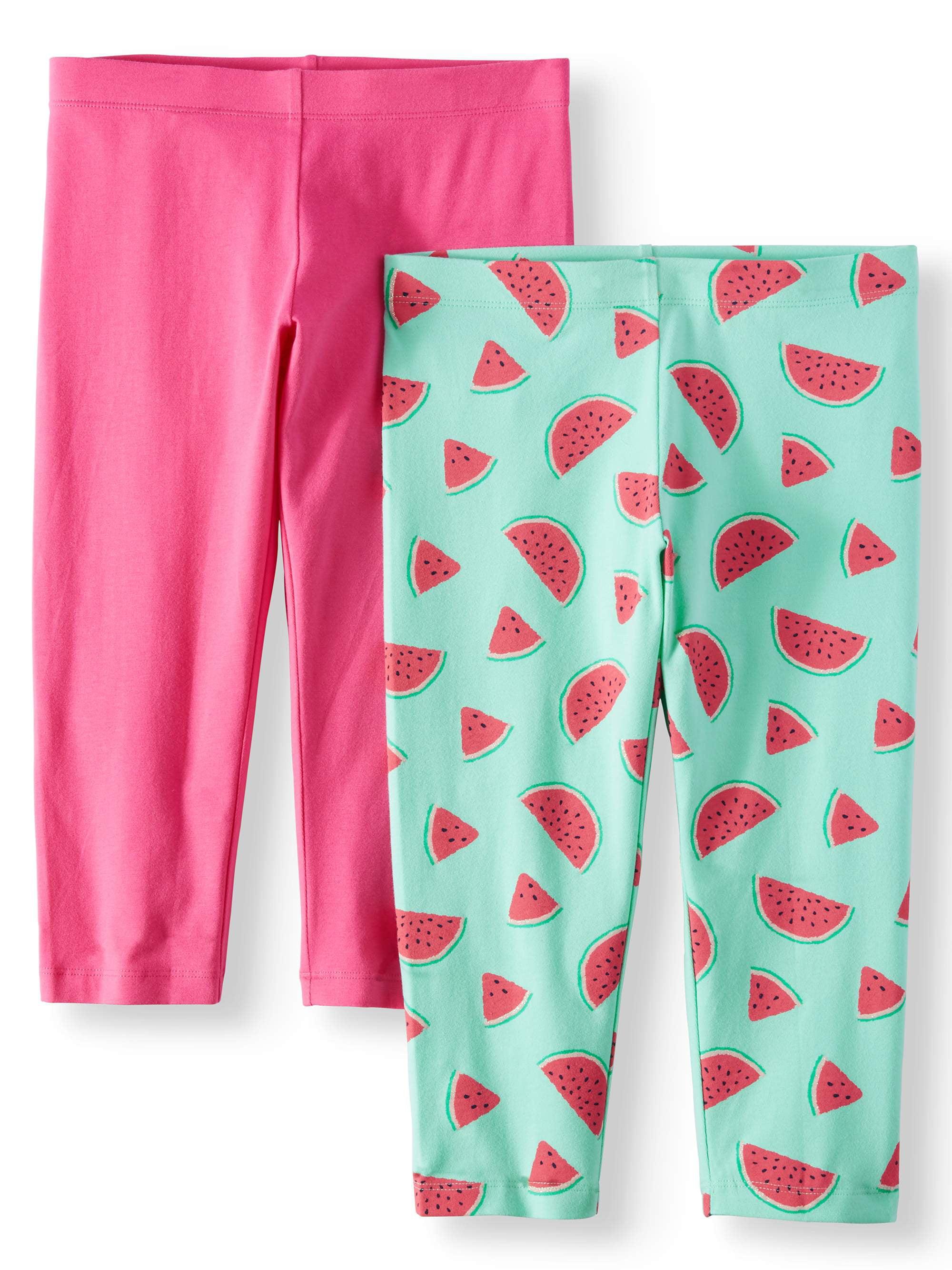 Solid and Printed Capri Leggings, 2-Pack (Little Girls & Big Girls)