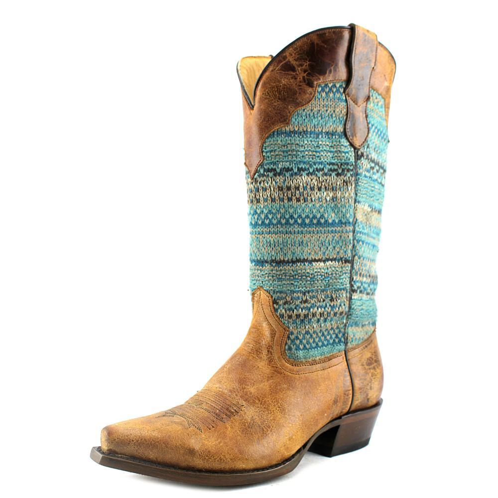 Roper Arnette Women US 10 Multi Color Western Boot, Size: 10 Medium, Brown