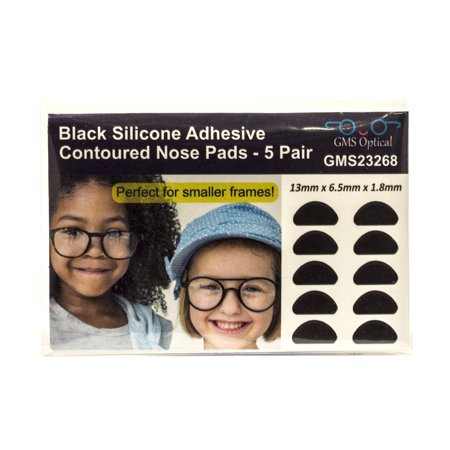GMS Optical Small Silicone Adhesive Contoured Nose Pads (5 Pair, 1.8mm) -
