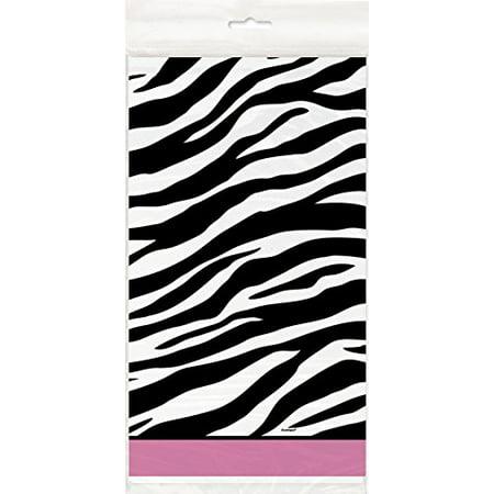 Zebra Print Plastic Tablecloth, 84 x 54 - image 1 de 1