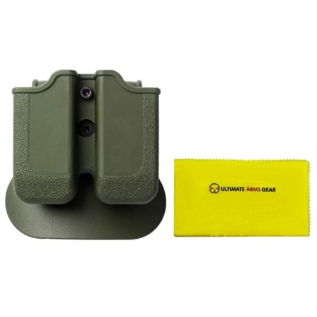 Imi Defense Z2030 Mp03 Double Magazine Pouch 360  Rotate Holster Magnum Baby Eagle  9 40   Ruger P89 P95  Od Olive Drab Green   Ultimate Arms Gear Care Silicone Cleaning Cloth
