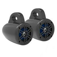 PYLE PLMRWB45B - Waterproof Rated Marine Tower Speakers - Compact Wakeboard Subwoofer Speaker System (4?' -inch, 300 Watt)