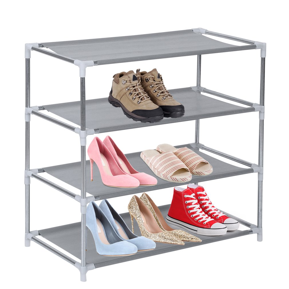 Metal Shoes Rack 3/4/5/6/7/10 Layer Shoes Stand Removable Dust-Shelves Storage Organizer Fabric Shelf Holder Stackable Closet