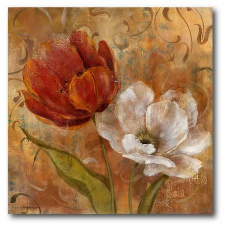 Courtside Market Flower Duet II Gallery-Wrapped Canvas Wall Art, 16x16 ()