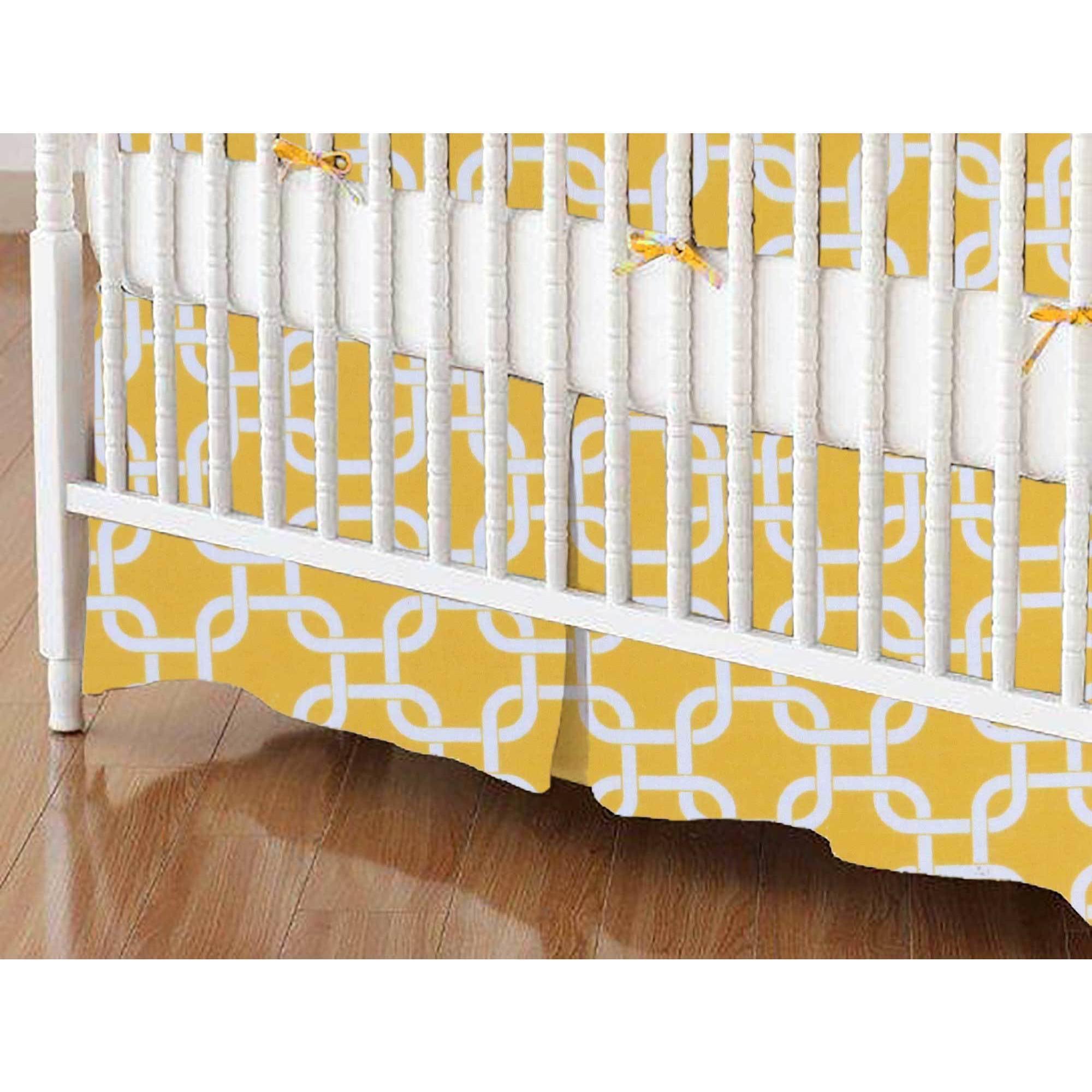 SheetWorld Crib Skirt - Lemon Yellow Links