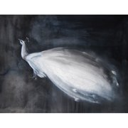 Mai Autumn Peacock by Christine Lindstrom Painting Print