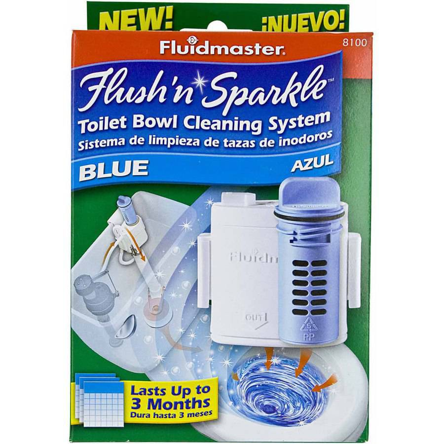 Fluidmaster 8100P8 Flush 'N' Sparkle Toilet Bowl Cleaning System