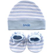Baby Unisex Cap and Booties Set, 2-Pack