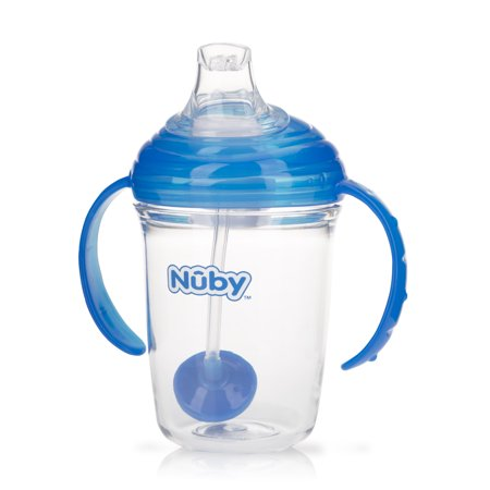 Nuby No Spill 360 Weighted Straw Gripn Sip Cup Color May