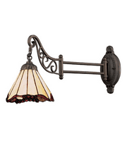 Wall Sconces 1 Light With Tiffany Bronze Finish Medium Base 24 inches 60 Watts - World of Lamp
