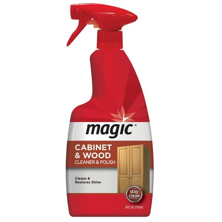 Magic Wood Cleaner and Polish - 24 Ounce - Use As Wood Furniture Cleaner, Wood Cabinet Degreaser, Wood Table Restorer, Wood Conditioner and Polish 24 fl. oz. (Best Wood Cabinet Polish)