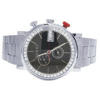 f3499437452 Product Image Gucci Mens G-Chrono Gucci 44MM Black Dial Diamond Watch  YA101361 3.0 Ct