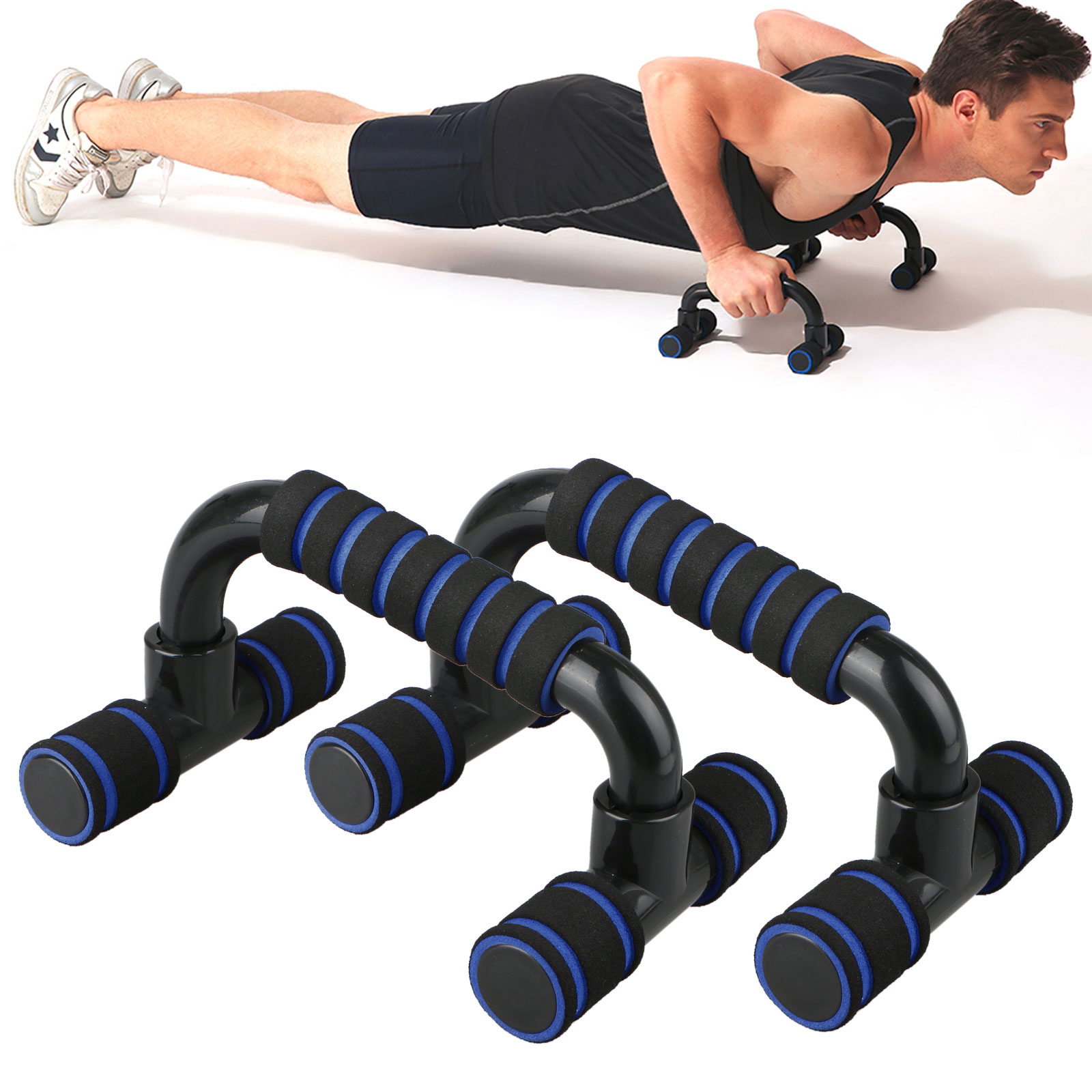 New Push Up Bars Stands Exercise Chest Fitness Home Health Workout Gym Training