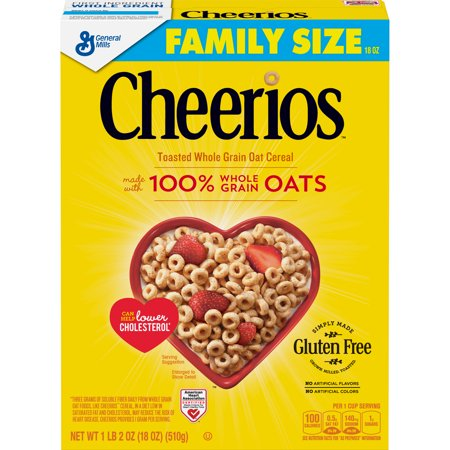 Cheerios Cereal, Gluten Free, Whole Grain Oats, 18 (Best Cereal For 18 Month Old)