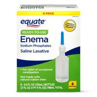 Equate Enema Sodium Phosphates Saline Laxative, 4.5 fl oz, 6 Count