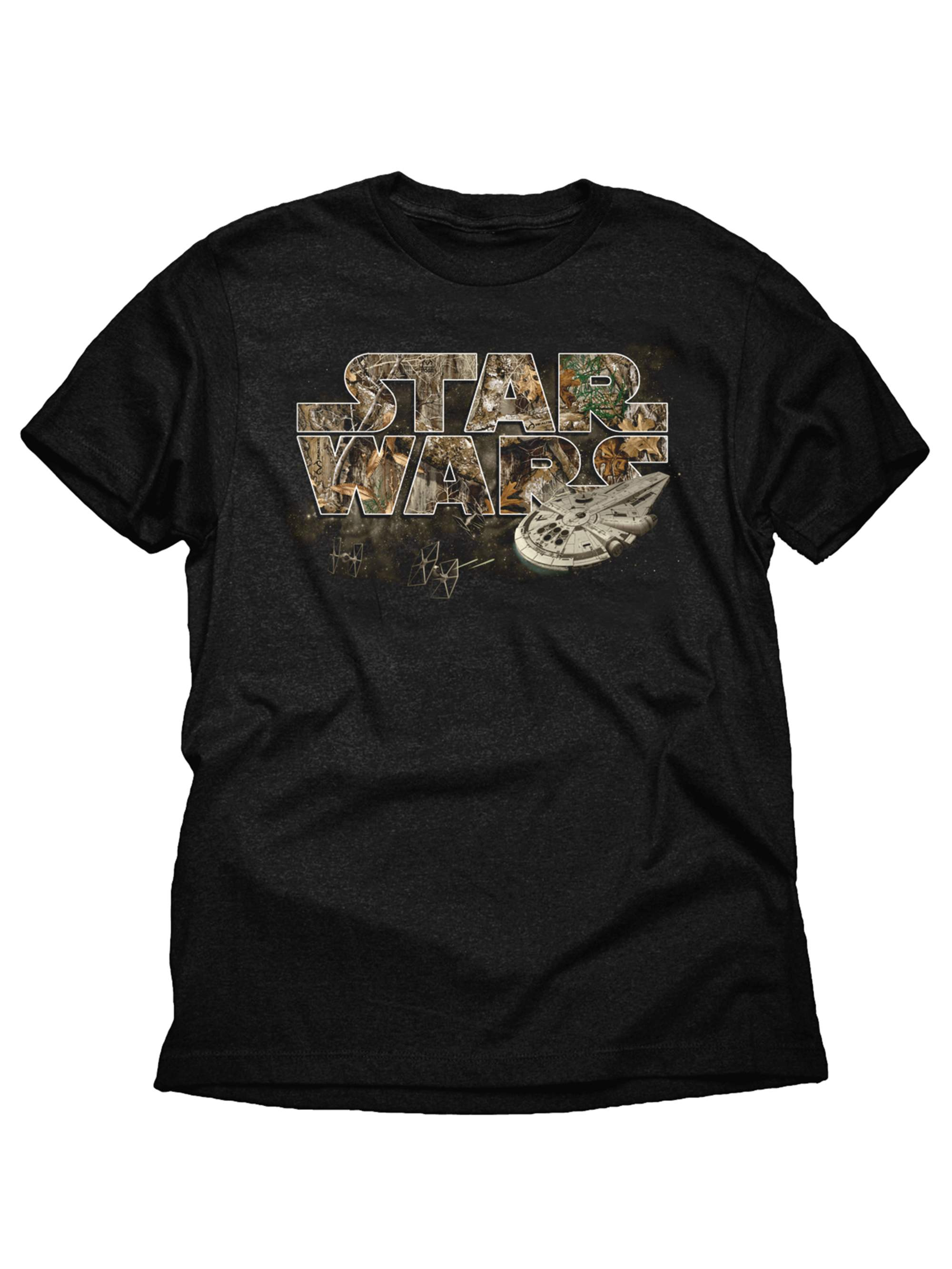 Solo: A Star Wars Story Millennium Falcon Realtree Boys Black Graphic T-Shirt