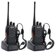 Zimtown 2PCS Baofeng BF-888S UHF 400-470Mhz Walkie Talkie Radio + Gift Portable Earphone