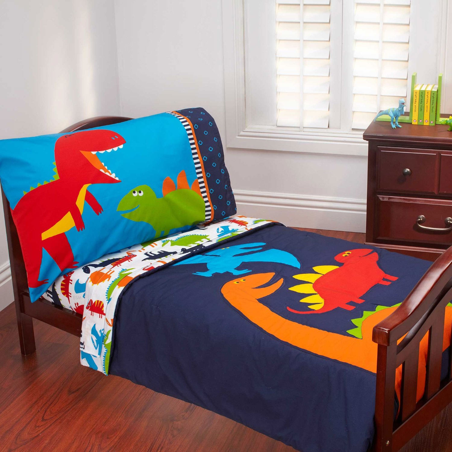 Carteru0026#39;s Prehistoric Pals 4 Pc Toddler Bedding Set   Walmart.com